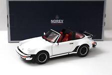 1:18 Norev Porsche 911 930 Turbo Targa white 1987 New chez Premium-modelcars