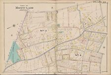 1904 MONTCLAIR ESSEX COUNTY NEW JERSEY, CEDAR STREET SCHOOL PLAT ATLAS MAP