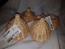 """Ikea Gullarp 0301 4 3/8"""" Wicker Pumpkin Apple Baskets"""