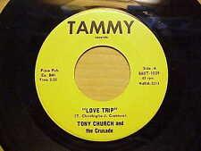 GREAT & RARE GARAGE PSYCH 1ST PRESS 45  TONY CHURCH L@@K LISTEN