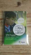 New KPN NL 3-in-1 4G Prepaid Sim Netherlands Holland Niederlande Card Karte
