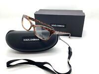 DOLCE GABBANA D&G 1232 2550 Eyeglasses Frame Glasses Marbled Brown 53-16 MIB 02