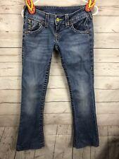 True Religion Jeans Size 26 Bootcut Flare Women's Medium Wash Horseshoe Pockets