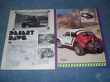 "1964 Volkswagen Baja Bug Vintage Article ""Desert Dawg"" VW"