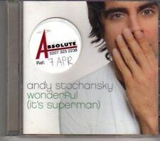 (DE870) Andy Stochansky, Wonderful (It's Superman) - 2002 DJ CD