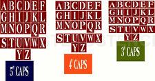 "~Item #5785 ~ Primitive Stencil ~ 3 Set Alphabet Caps 5""~4""~3"" Great For Blocks"