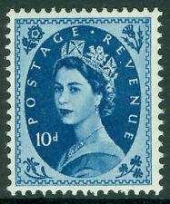 SG552, 10d prussian blue, M MINT. Cat £20. WMK EDWARD CROWN.