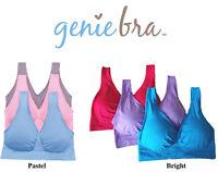 NEW! GENIE BRA in Pastel or Bright Colors - Pink, Blue, Purple  - S M L XL 2XL