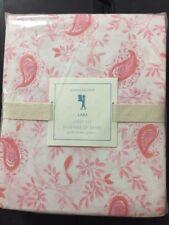 NWT Pottery Barn Kids Lara paisley pink full sheet set
