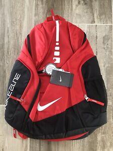 NIKE HOOPS ELITE MAX AIR TEAM BASKETBALL BACKPACK BAG RED WHITE