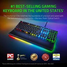 Razer Huntsman Elite Gaming Keyboard: Fastest Keyboard Ever With Wrist Rest!