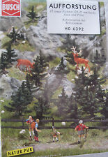 Busch 6392 HO young spruce trees miniature Railroad Train Model Scenery diorama