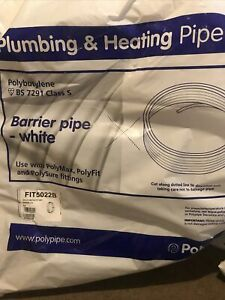 50m x 22mm barrier pipe coil plastic plumbing  pushfit Polyplumb