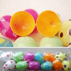 12PCS Plastic Easter Eggs Bright Hunt DIY Decoration Party Kids Gift Hot