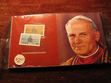 Pope John Paul II Visit To Canada Stamps Set.