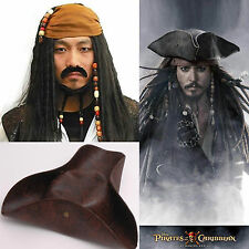 Pirates of the Caribbean Jack Sparrow Wig Parraucca+Cappelli Costume Cosplay Set