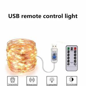 8 Model DIY Micro Copper Wire  Fairy String Lights USB Plug 50/100/200LED Xmas