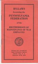 Vintage Pennsylvania Brotherhood Maintenance Of Ways Employees Handbook 1953