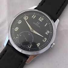 OMEGA MILITARY DIAL MENS WATCH MANUAL WIND CAL 265 CASE 36.5 MM