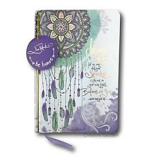Cherish You DREAM BIG Feather Dreamcatcher Hard Cover Journal Lisa Pollock