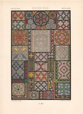 RACINET ORNEMENT POLYCHROME 45 Medieval decorative arts patterns motifs c1885