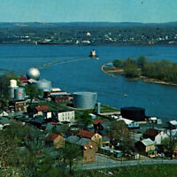 Vintage 1950s Rondout Creek Hudson River Kingston Postcard Ponckhockie New York