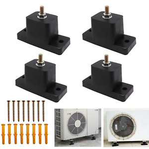 4 Pack Rubber Vibration Isolator, Anti-Vibration Air Conditioner Mounting Pads