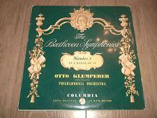 """BEETHOVEN SYMPHONIES """" NUMBER 7 """" OTTO KLEMPERER 33CX 1379 EX/VG BLUE GOLD"""