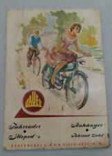 BAUER GERMAN BICYCLES MOTORBIKES FAHRRADER MOPED ADVERTISING POSTER SIGN 1950's