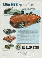 2004 ELFIN MS8 SPORTS CAR Australian 2p Brochure Fair Condition