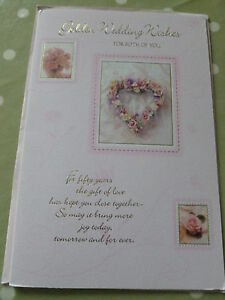 GOLDEN  WEDDING WISHES FOR BOTH OF YOU CARD
