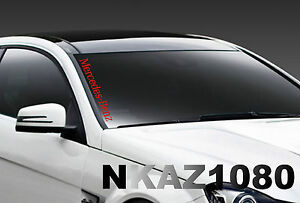 Mercedes Benz windshield Vinyl Decal Sport car Racing sticker emblem logo RED