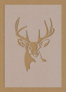 Stag Deer Stencil Animal Silhouette Crafting Decor A6 A5 A4 A3