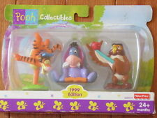 Fisher-Price Set of Three Pooh Collectables, Tigger, Eyore and Owl 1999 Edition