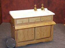 Dollhouse Miniature Oak Kitchen Sink Cabinets 1:12 inch scale K65 Dollys Gallery