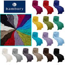CAMBRIDGE Ruffle Knitted Ripple Throw Rug Blanket - Sofa Bed Deco - Bambury