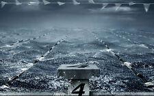 Incorniciato stampa-IMMERSIONE Board in un mare tempestoso (foto poster arte Nuoto)