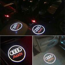 2x Ghost LED Door Step Courtesy Shadow Laser Light Logo Projector Emblem AUDI