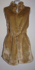 Michael Kors Women's Khaki Sleeveless Beaver Fur Vest Size L SALE