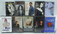 VINTAGE LOT OF 10 CASSETTE TAPES RARE OLDSCHOOL -- PRICED TO SELL - WHAT YOU SEE