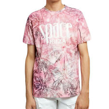 OFFICIAL Space Ibiza Allover Palms Mens T-Shirt Pink Sublimated