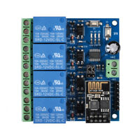 12V ESP8266 ESP-01 4 Channel WiFi Relay Module For IOT Phone APP Controller