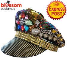 As260 Burning Man Sequins GEMSTONE Festival Costume Hat Multicolour Mardi Gras