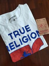 TRUE RELIGION BRAND JEANS THE HAWAII 56 WHITE T-SHIRT( L) $ 98