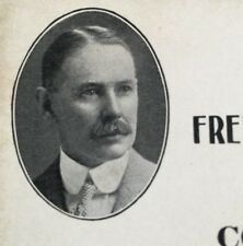 Political Card Democrat For JUDGE Family History Frederick H. Hazard Very OLD