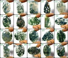 NATURAL GREEN MOSS AGATE CABOCHON MIX SHAPE GEMSTONE LOOSE FOR JEWELRY MOS-A