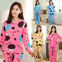 Women's Autumn sleepwear long sleeve pajamas sets Character printing Home Suit
