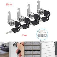 CamLock Cabinet Keyed Cam Lock 4Pack RV Door, Kitchen Drawer Short Tool Box 16mm