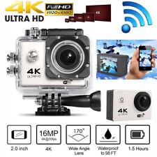 "WIFI 4K Action Camera 16MP 1080P 2"" Sports DV Helmet Cam 30m Waterproof as GoPro"