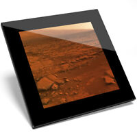 1 x Mars Planet Surface Print Glass Coaster - Kitchen Student Quality Gift #8223